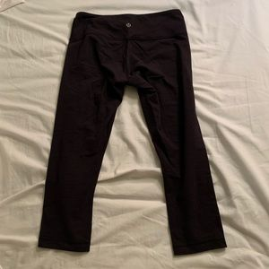 Lululemon cropped leggings, original fabric
